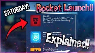 ROCKET LAUNCH *GAMEPLAY* In Fortnite Battle Royale! BLAST OFF EVENT EXPLAINED