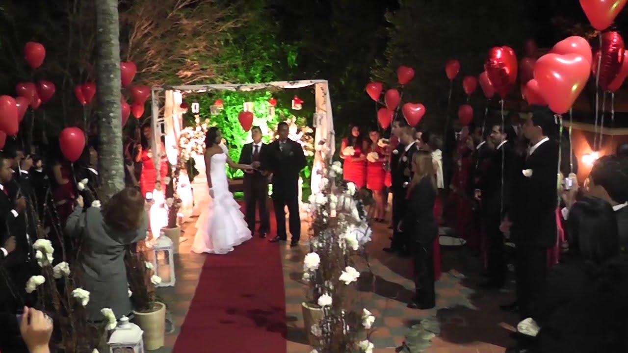 Hallelujah Cerim u00f4nia dos Balões Casamento Aline e  # Decoração Balões Casamento