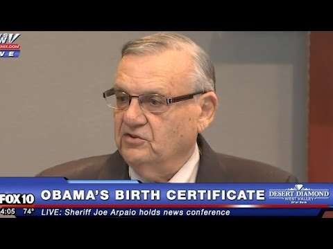 Sheriff Joe Arpaio Holds Press Conference On Obama's Birth Certificate 3 Weeks Before Leaving Office