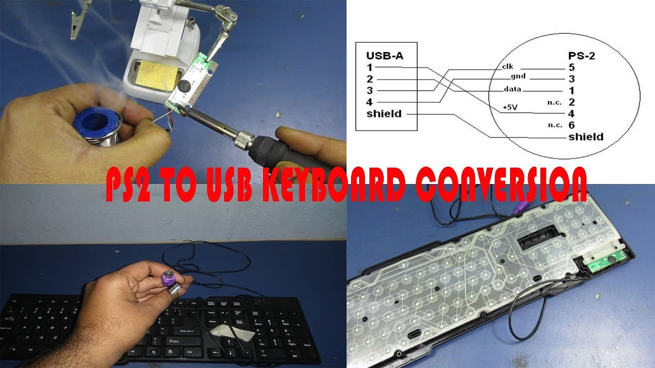 How to convert keyboard PS2 to USB - YouTube | Ps2 To Usb Wire Diagram |  | YouTube