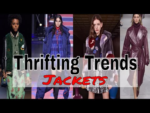 Thrifting Trends Ep. 3 | Jackets and Coats/Fall 2017 Trends | Thrift Jacket Collection