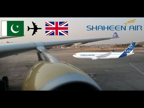 Flight review Shaheen Airline A330-200 Islamabad to Manchester 01/01/2017