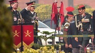 Superannuating Army Chief General Dalbir Singh Suhag's Guard of Honour And Address To The Nation