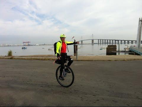 Atlantic to Black Sea unicycle trip, Danube & Loire cycle path, Eurovelo 6, 4171 km