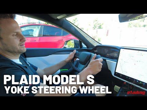 First Try - Yoke Steering Wheel - Plaid Model S