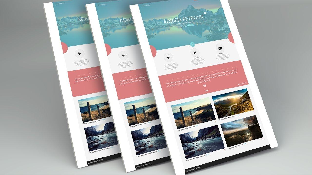 Tutoriel web design maquette web adobe xd