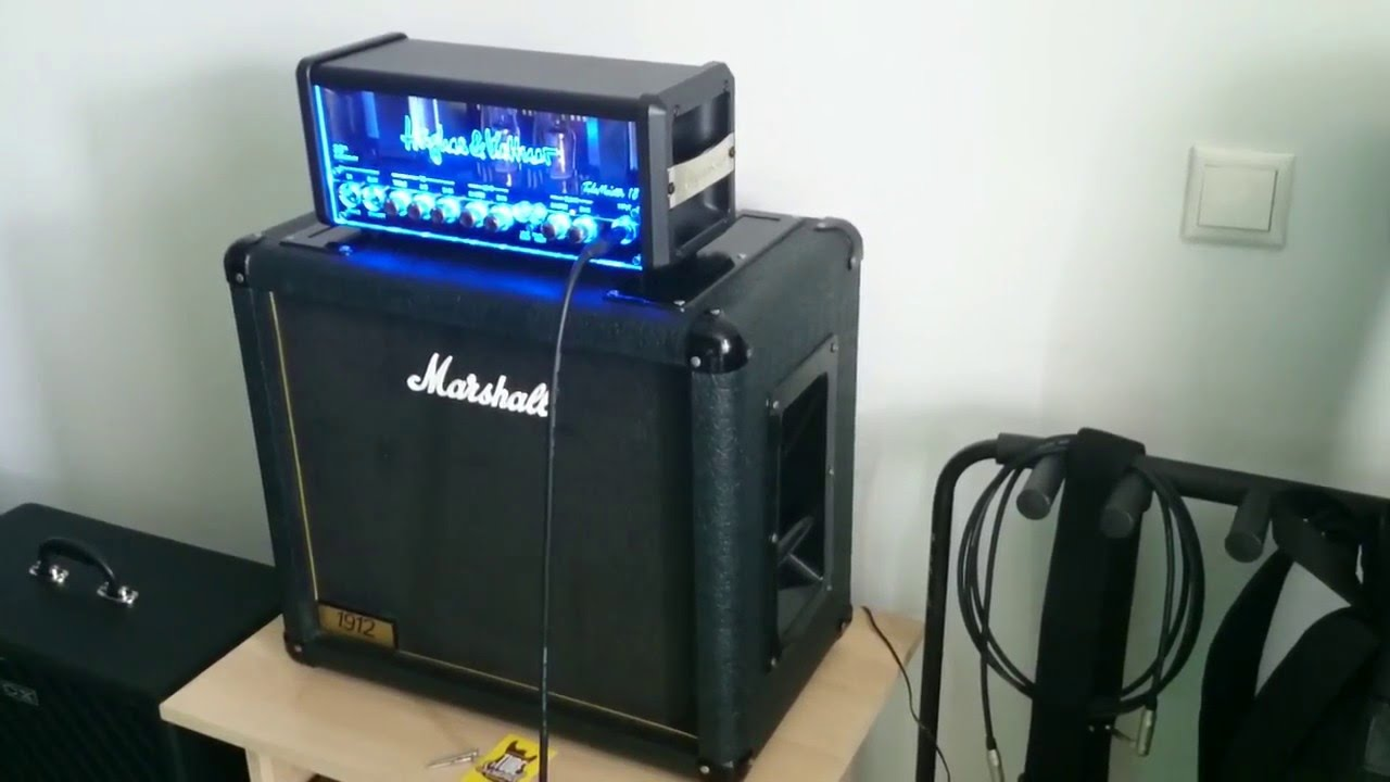 hughes kettner tubemeister 18 head nos and marshall 1912 1x12 guitar cabinet youtube. Black Bedroom Furniture Sets. Home Design Ideas