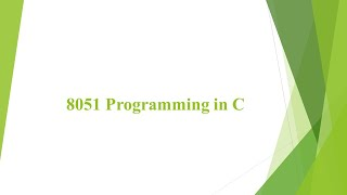 MC M3 L1 - 8051 Programming in…