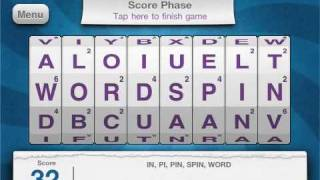 Word Spin App from Geospace and RogueSheep