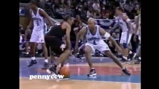 Allen Iverson 40pts vs Charlotte Hornets 99/00 NBA Playoff Game 1