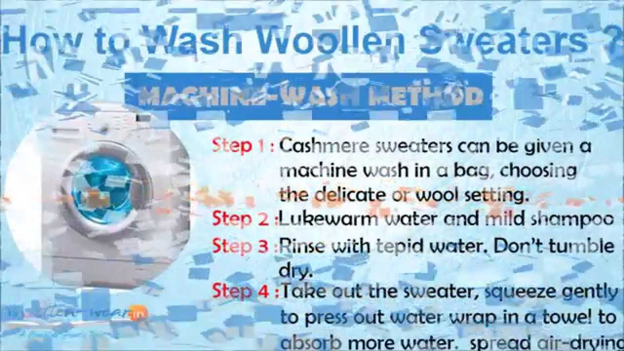 how to wash cashmere wool sweaters washing methods hand machine wash youtube. Black Bedroom Furniture Sets. Home Design Ideas