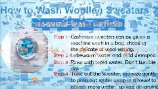 How to Wash cashmere wool sweaters? Washing Methods - Hand & Machine Wash