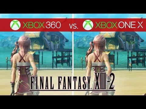 Final Fantasy XIII-2 Comparison - Xbox 360 vs. Xbox One X