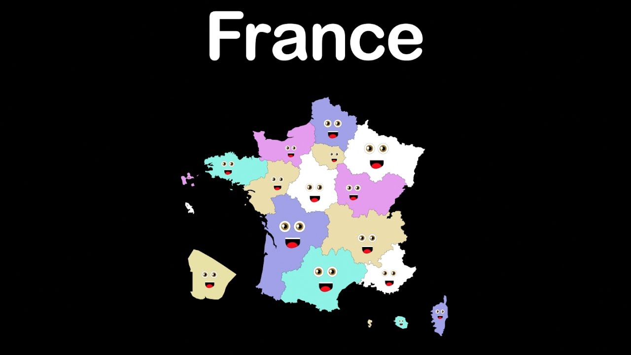 Districts Of France Map.France Geography French Regions