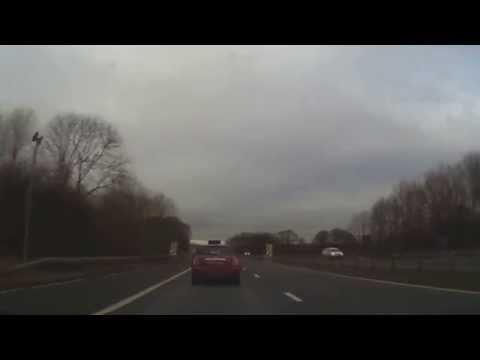 Billingham, Teesside to Newcastle Airport via A689, A1(M) (5/2/15)