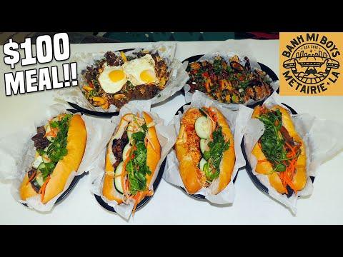Massive Banh Mi Sandwich Challenge w/ Pho Wings and Bulgogi Fries!!