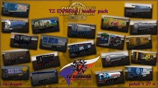 ets 2 v1 27 pack trailers tz express by rommi tz