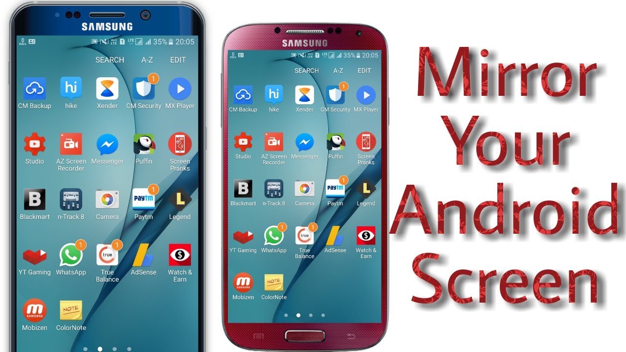 How to mirror | android screen | to another android phone   ???