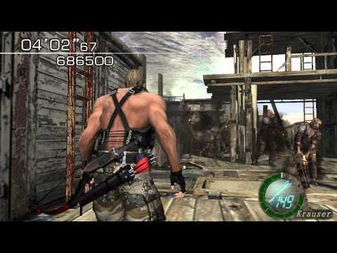 Resident Evil 4 - The Mercenaries (Welcome To Hell) Mode - WaterWorld - Krauser (819.500) HQ