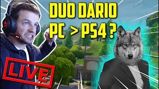 DUO DARIO - PC vs PS4 ARBALE - FORTNITE BATTLE ROYAL! [NEUER PATCH 2.4.2 - LIVE FR - FACECAM - PC]