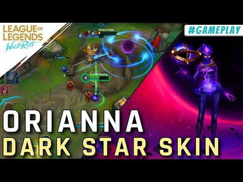 ORIANNA DARK STAR SKIN GAMEPLAY: LOL WILD RIFT CLOSE BETA