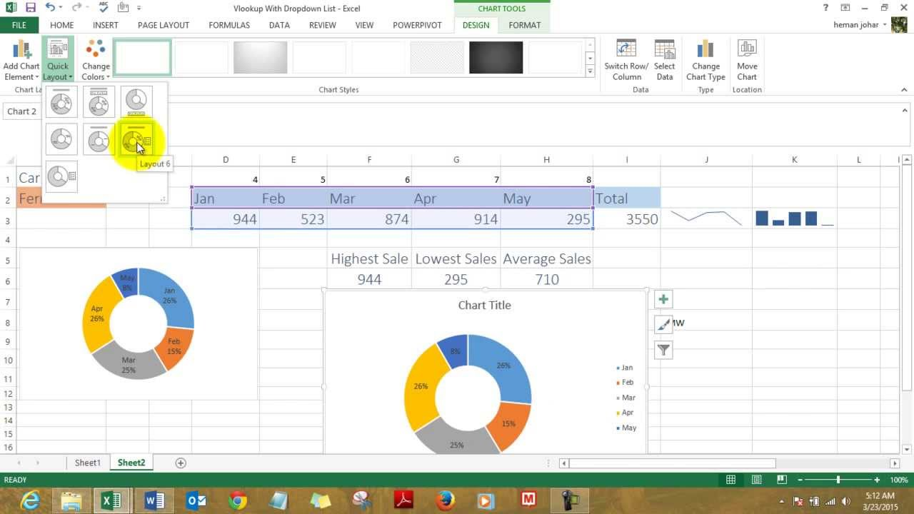 Vlookup with dropdown list to create mis dashboard youtube ccuart Gallery