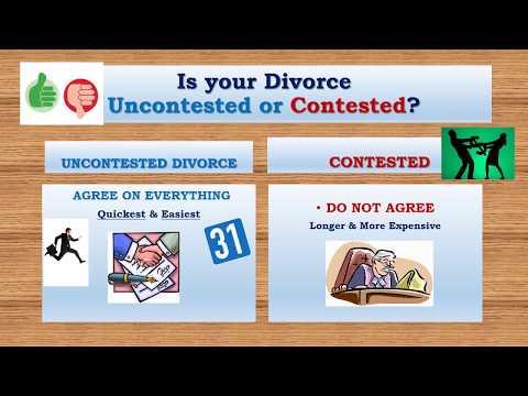 Divorce no children video