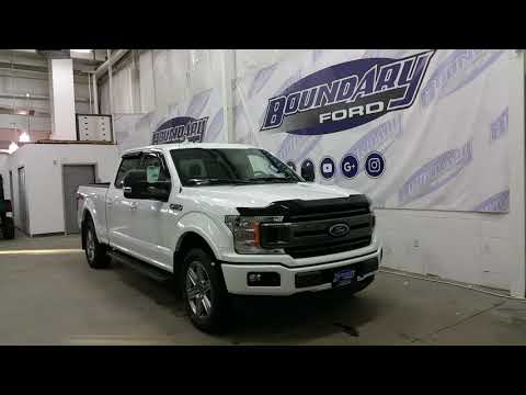 2018 Ford F-150 SuperCrew XLT Sport 302A W/ Ecoboost, White Exterior Overview | Boundary Ford