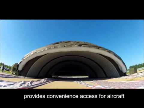 Inflatable Hangar, inflatable military shelter, aircraft hangar