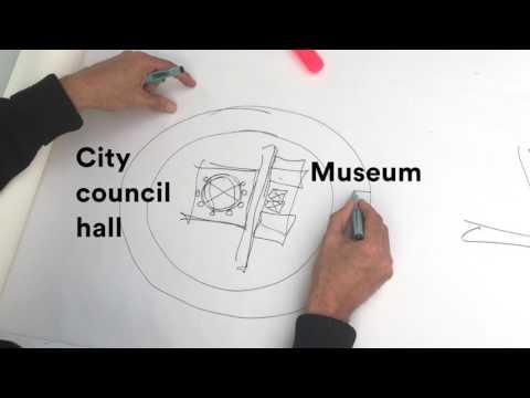 Sketching the New City Hall in Kiruna