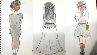 How to Draw Girls (From Behind) *DRAWING TUTORIAL*