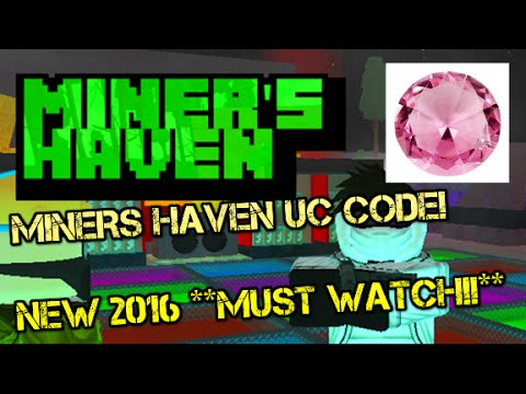 EXPIRED! [ROBLOX:] Miner's Haven CODE!