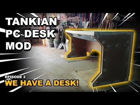 ULTIMATE DESK PC DIY BUILD with 2 METERS!!! - EPISODE 2: WE HAVE A DESK!
