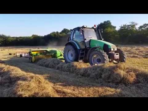 Baling hay 2016 at Hughes farm Wexford Ireland with John deere balers 342 and 456. Mchale f5500