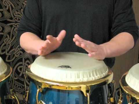 How to do Doubles or Roll on Conga (Palm - Finger Technique)