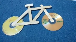 Craft For Kid - Easy Make Bicycle Using CD And Popsicle Stick