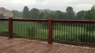 Deck Awning From Shade Your World During Thunderstorm