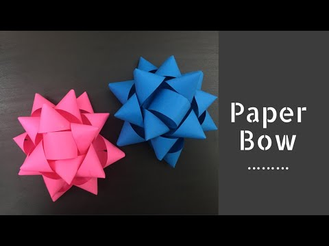 DIY: Paper Gift Bow/ How To Make Paper Bow/ Gift Wrapping/ Paper Ribbon/ Easy Bow Making Tutorial