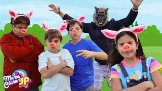 A HISTÓRIA DOS TRÊS PORQUINHOS COM MARIA CLARA E JP ♥ The three Little Pigs