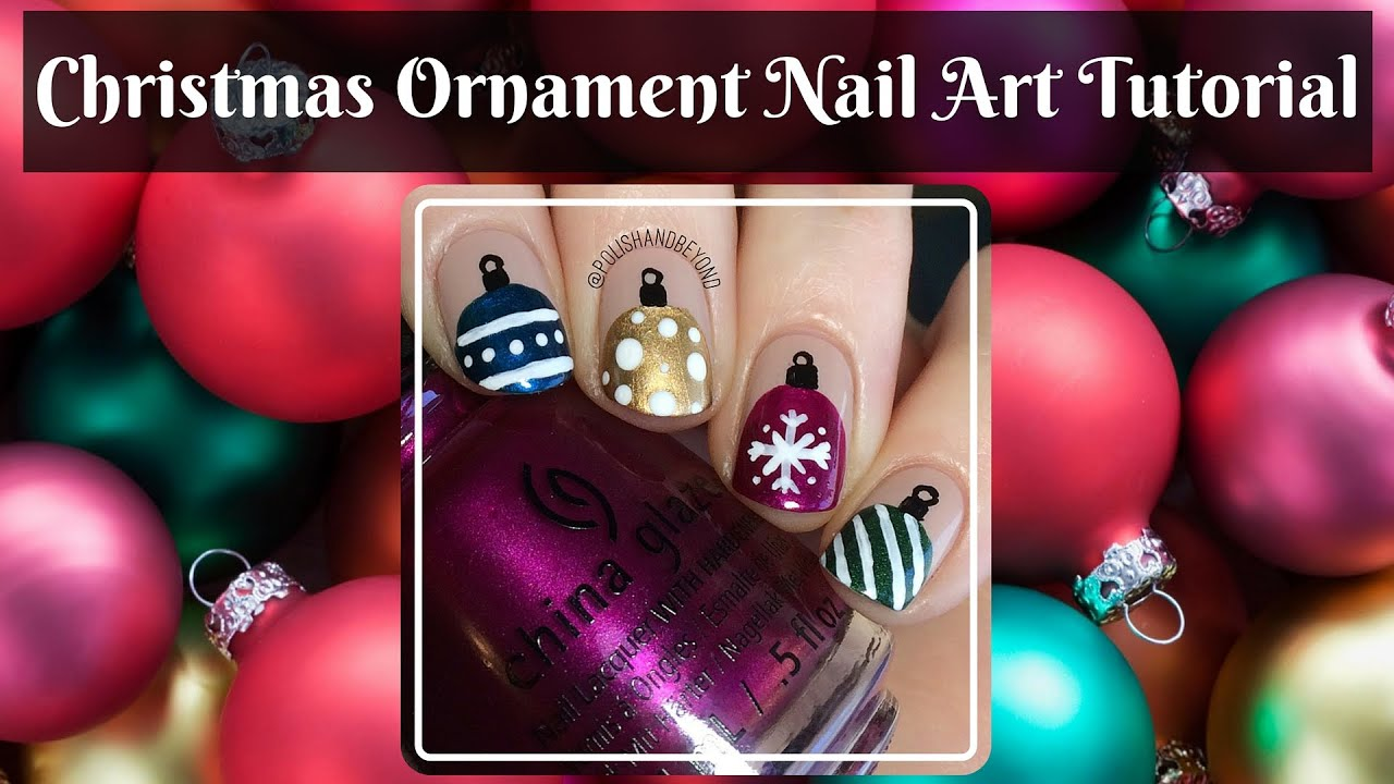 christmas ornament nail art - photo #9