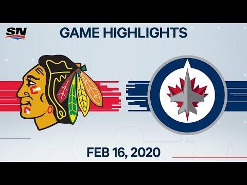 NHL Highlights | Blackhawks Vs Jets – Feb. 16, 2020