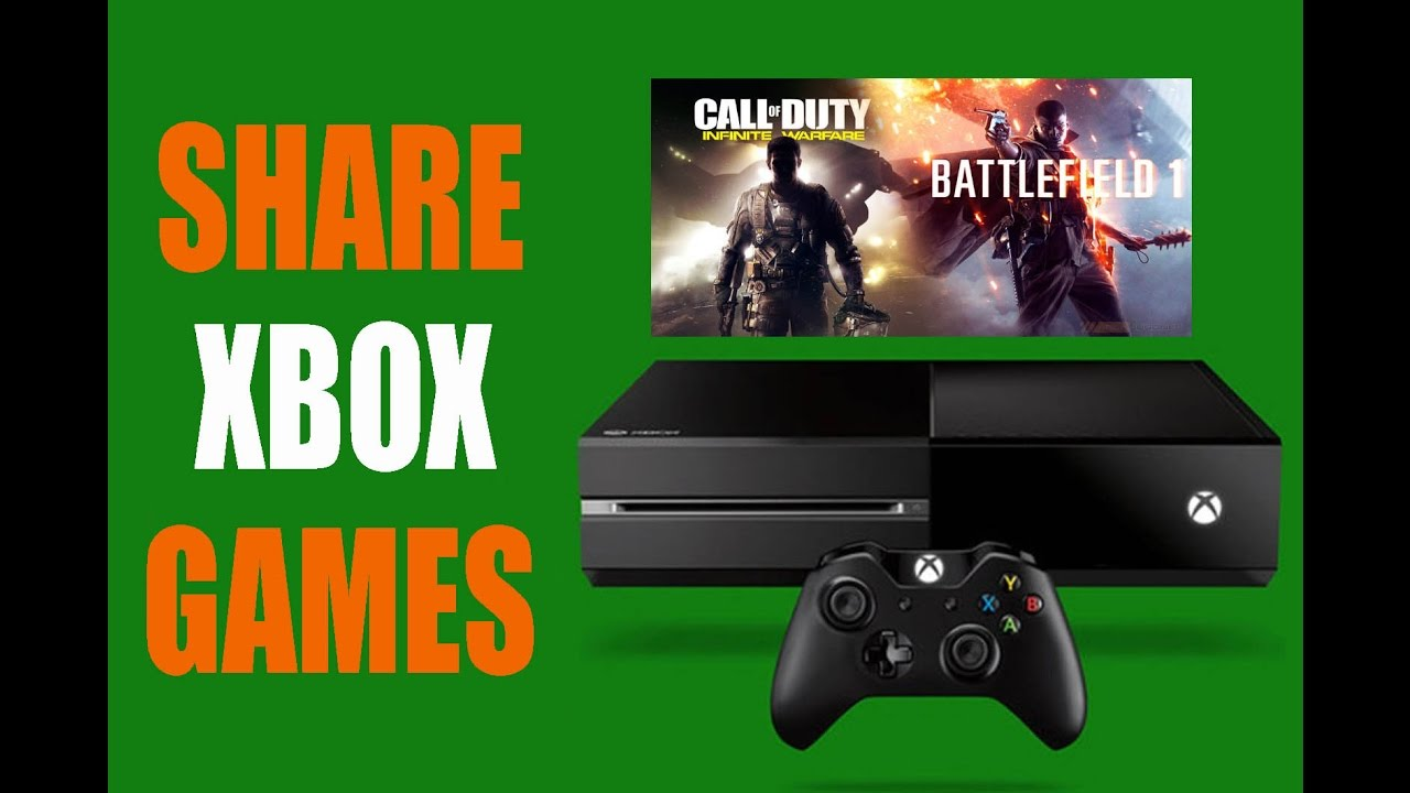 HOW TO SHARE XBOX ONE GAMES / XBOX LIVE GOLD