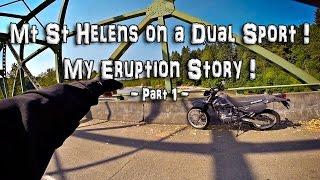 Mt St Helens on a Dual Sport! - My Eruption Story! (Pt. 1/5) - DR650SE | RoadTrip