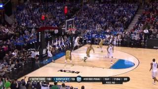 Notre Dame vs Kentucky: Zach Auguste dunk