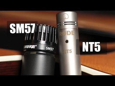 Rode NT5 vs Shure SM57 (acoustic guitar) (pt.1)