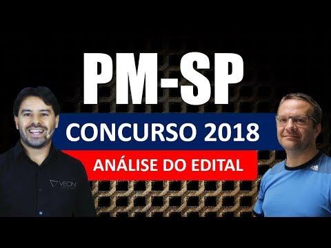 Concurso PM SP 2018   Análise do Edital Soldado Polícia Militar São Paulo