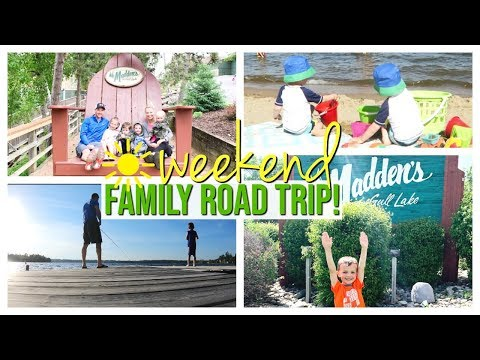 family-road-trip-with-4-kids!-|-madden's-resort-weekend-vlog-|-june-2019