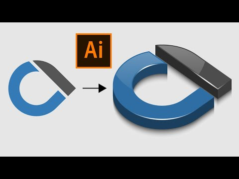How to Create 3D Glossy Logo in Adobe Illustrator | Easy Tutorial