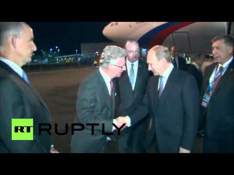 Australia: Putin lands in Brisbane for G20