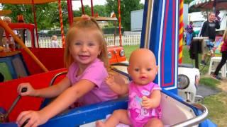 Беби Бон Сборник Как МАМА. На Пожарной машине и Двухэтажном Автобусе. Игры с Куклой Видео для детей